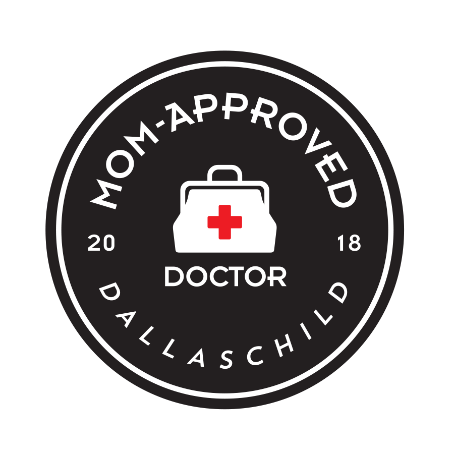 Nominated a Mom-Approved Doctor by Dallas Child magazine in 2018!